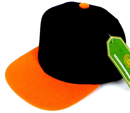 INFANT Baby Blank Snapback Hats & Caps Wholesale Pineapple - Bk Orange