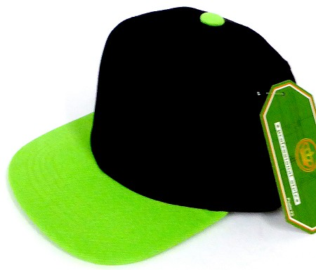 INFANT Baby Blank Snapback Hats & Caps Wholesale  - Bk Lime