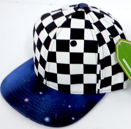 INFANT Baby Blank Snapback Hats & Caps Wholesale -  Checkered Galaxy 2