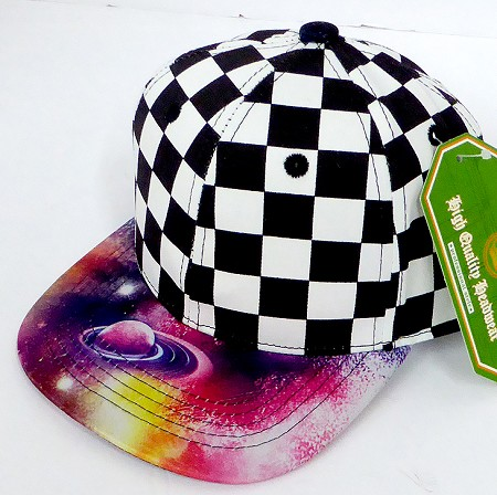 INFANT Baby Blank Snapback Hats & Caps Wholesale -  Checkered Galaxy 3