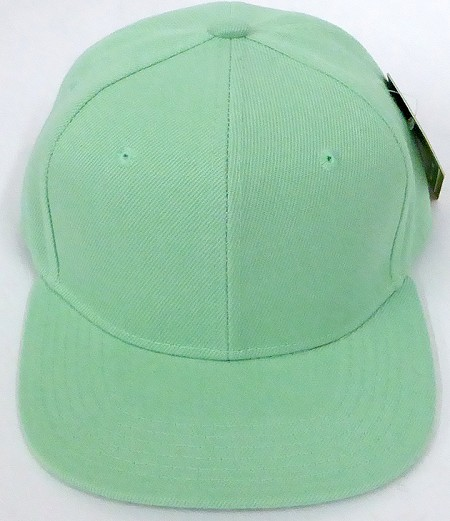 KIDS Junior Wholesale Blank Snapback Hats  - Solid Tiffany Blue