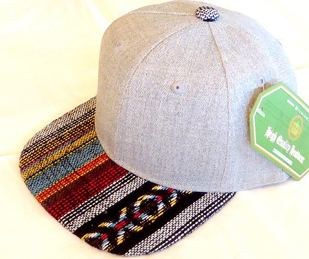 INFANT Baby Blank Aztec Snapback Hats & Caps Wholesale - Denim Grey STR 01