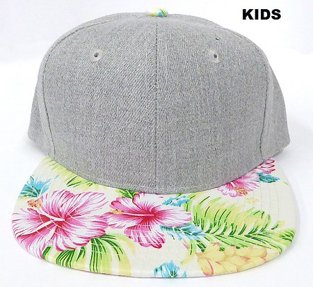 KIDS JUNIOR Bulk Blank Snapback Caps - Grey Denim | BEIGE
