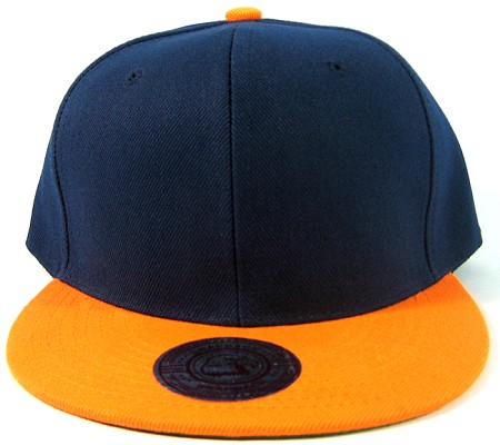 Vintage Snapback Hats >> Blank Plain Vintage Snapback Hats Green Underbill Wholesale Two Tone Navy Orange